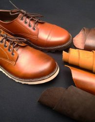 Sepatu Casual Derby Warna Tan
