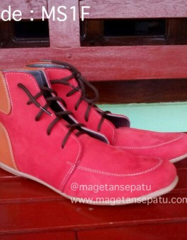 Sepatu Kulit Wanita Boot Model Kode MS1F