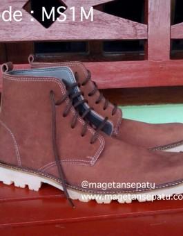 Sepatu kulit Model Boot Pria Ekslusif Kode MS1M