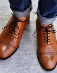 Modern Cap Toe Oxford Shoes